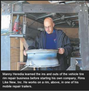 Rims like new repairs rim in Middletown for times herald record